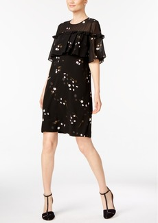 Alfani Printed Ruffled Cape Dress, Created for Macy's