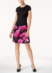 Alfani Printed Scuba Fit & Flare Dress, Created for Macy's