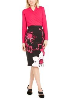 Alfani Printed Scuba Pencil Skirt, Created For Macy's