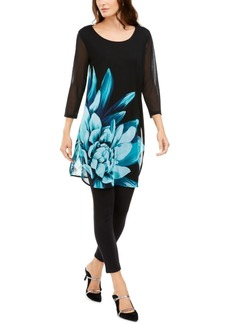 Alfani Printed Sheer Tunic, Created for Macy's