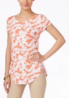 Alfani Printed Short-Sleeve Top, Only at Macy's