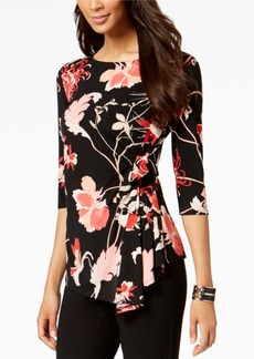 Alfani Printed Side-Tie Top, Created for Macy's