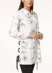 Alfani Printed Side-Tie Tunic, Created for Macy's