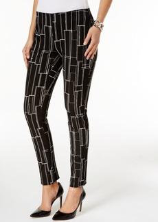 Alfani Printed Skinny Pants, Only at Macy's