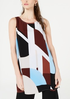 Alfani Printed Sleeveless Tunic Top, Created for Macy's