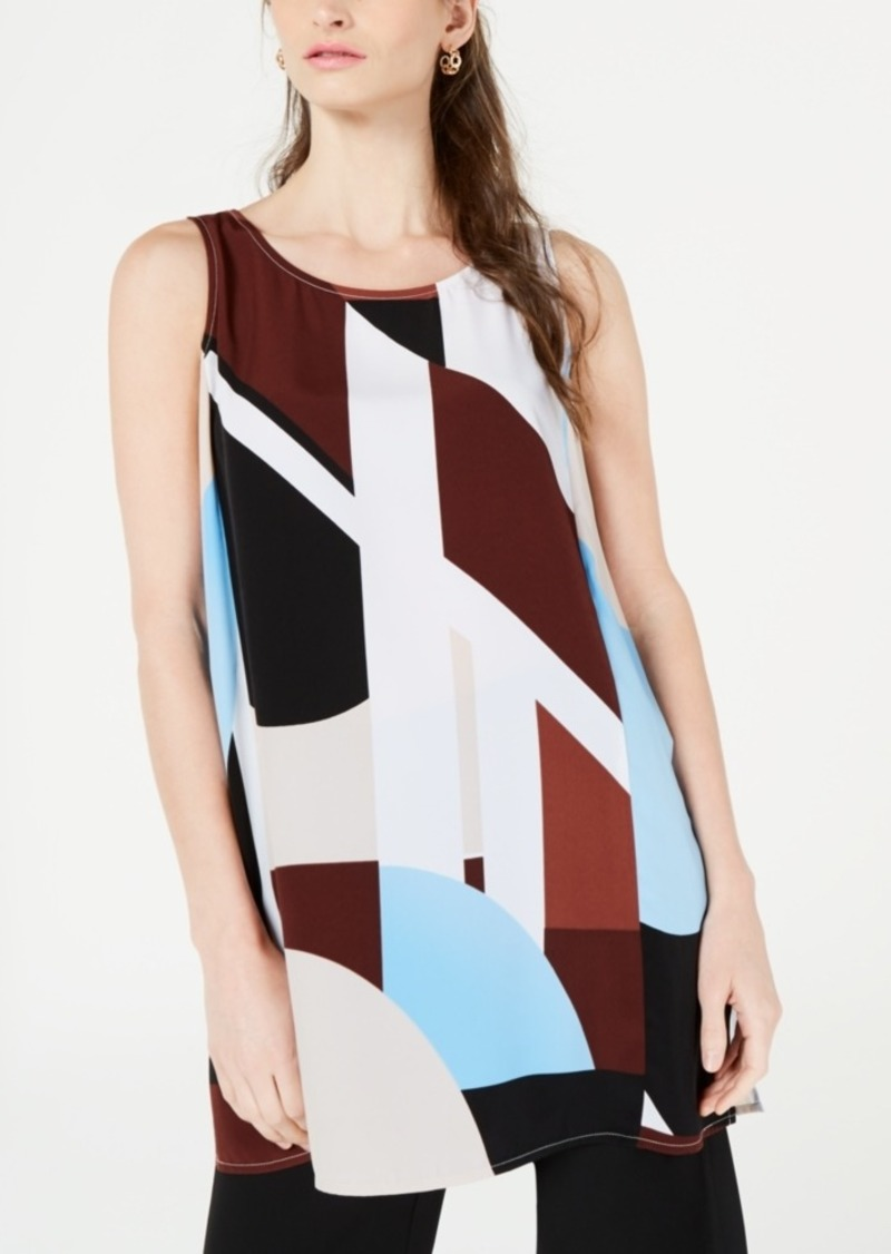 Alfani Printed Sleeveless Tunic Top, Created for Macy's