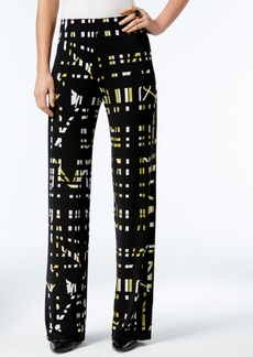 Alfani Printed Soft-Knit Pants, Only at Macy's