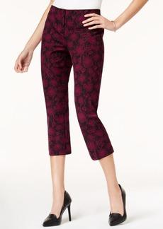 Alfani Printed Stretch Capri Pants, Created for Macy's
