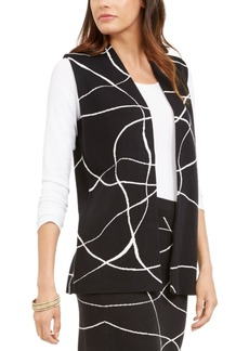 Alfani Printed Sweater Vest, Created For Macy's