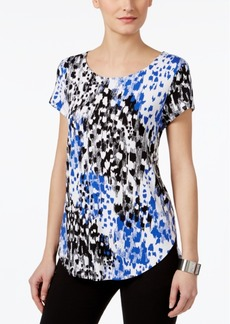 Alfani Petite Printed Shirttail T-Shirt, Only At Macy's
