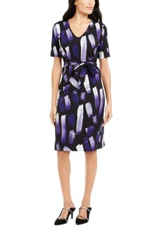Alfani Printed Tie-Waist Dress, Created For Macy's