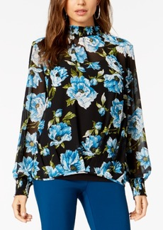Alfani Printed Tiered-Sleeve Top, Created for Macy's