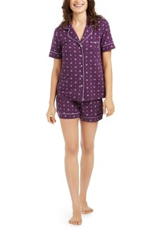 Alfani Super Soft Printed Top & Shorts Pajamas Set, Created For Macy's