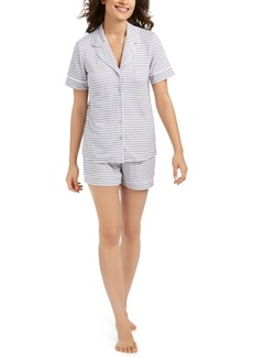 Alfani Printed Top & Shorts Pajamas Set, Created For Macy's