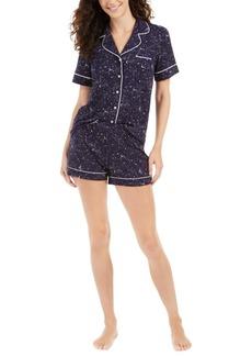 Alfani Super Soft Printed Top & Shorts Pajamas Set, Created For Macy's