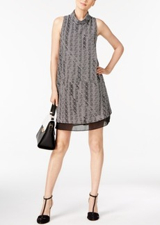 Alfani Printed Turtleneck Dress, Created for Macy's