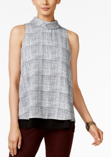 Alfani Petite Printed Layered-Look Top, Only at Macy's