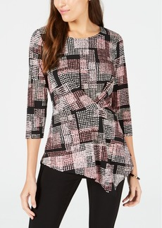 Alfani Printed Twist Top, Created for Macy's