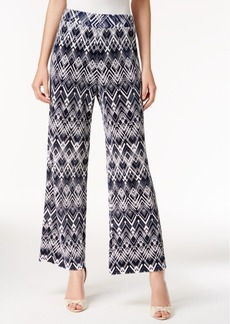 Alfani Printed Wide-Leg Pants, Only at Macy's