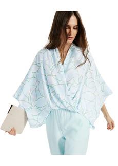 Alfani Printed Wide-Sleeve Surplice Top, Created for Macy's