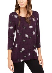 Alfani Printed Woven-Back Tunic, Created for Macy's