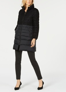 Alfani Puffer Lace Jacket, Created for Macy's