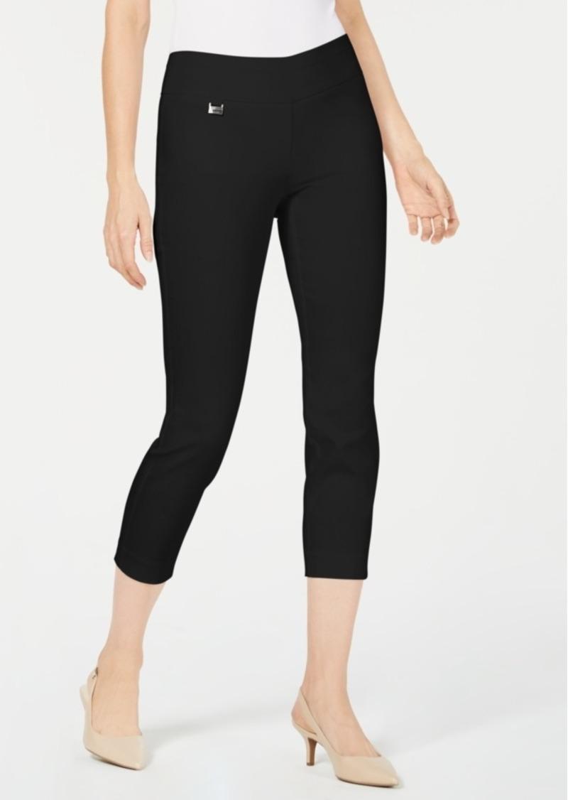 Alfani Tummy-Control Cropped Skinny Pants, Created for Macy's