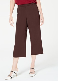 Alfani Pull-On Wide Leg Cropped Pants, Created for Macy's