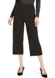 Alfani Pull-On Wide-Leg Jacquard Culottes, Created For Macy's