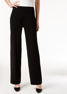 Alfani Pull-On Wide-Leg Knit Trousers, Only at Macy's