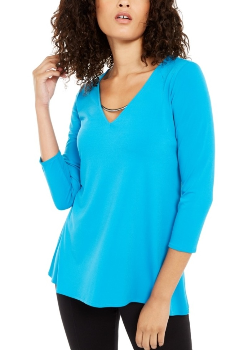 Alfani Pullover Top with Hardware, Created For Macy's