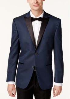 Alfani Red Men's Slim-Fit Navy/Black Houndstooth Evening Jacket, Only at Macy's