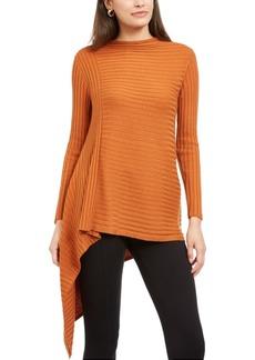 Alfani Ribbed Asymmetrical Sweater, Created For Macy's