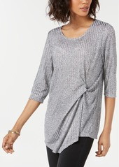 Alfani Ribbed Side-Twist Top, Created for Macy's