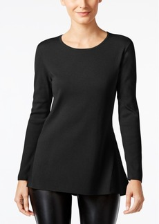 Alfani Ribbed-Trim Peplum Sweater, Only at Macy's