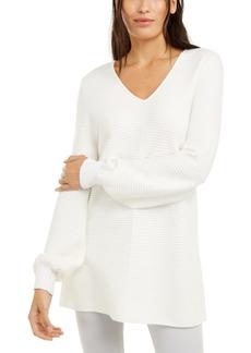 Alfani Ribbed Tunic Sweater, Created For Macy's