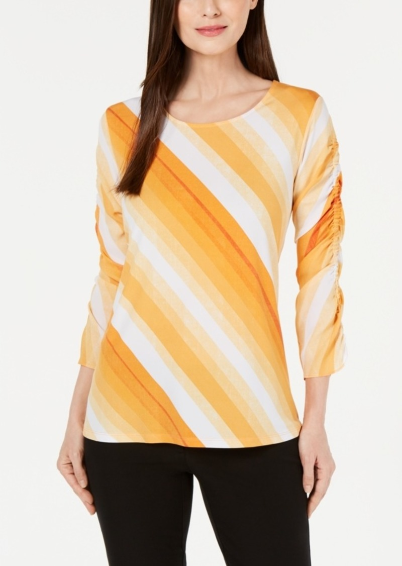 Alfani Ruched-Sleeve Top, Created for Macy's