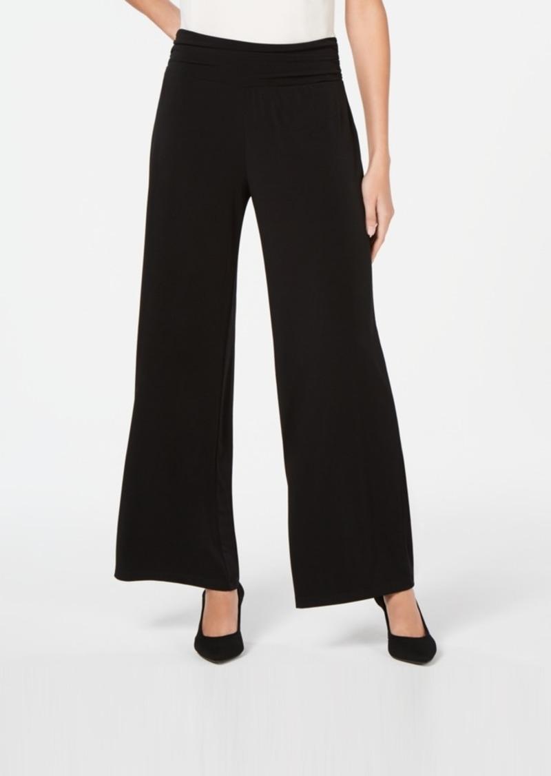 Alfani Ruched-Waist Wide-Leg Pants, Created for Macy's