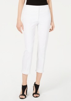 Alfani Ruffle-Hem Ankle Pants, Created for Macy's