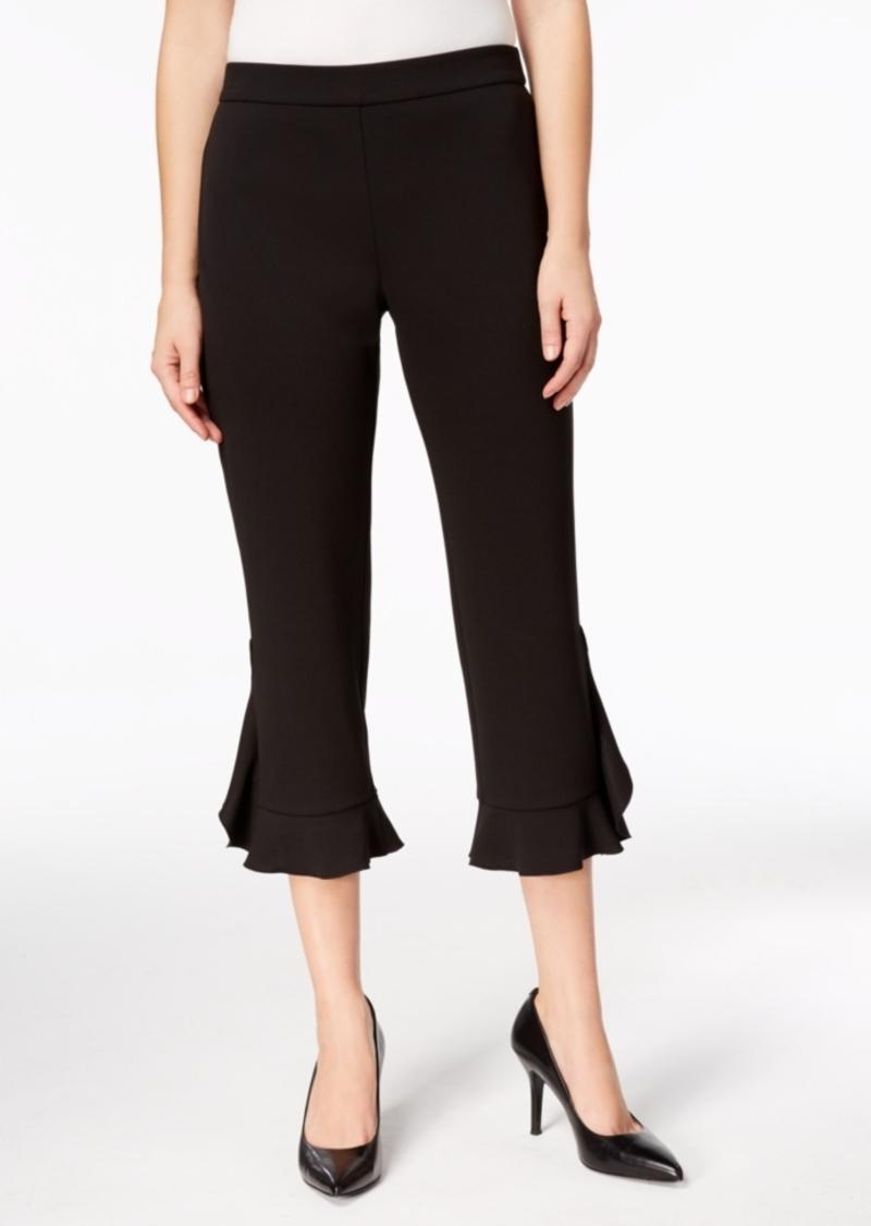 Alfani Petite Ruffle-Hem Pants, Created for Macy's