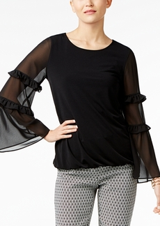 Alfani Ruffle-Trim Top, Only at Macy's
