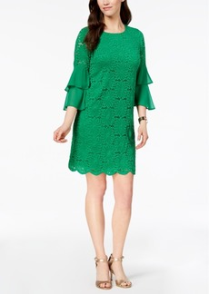 Alfani Ruffled-Sleeve Lace Shift Dress, Created for Macy's