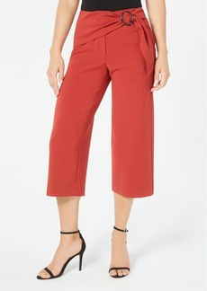 Alfani Sash-Belt Cropped Pants, Created for Macy's