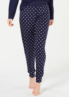Alfani Ultra Soft Satin-Trimmed Jogger Pajama Pants, Created for Macy's