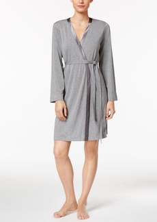 Alfani Satin-Trimmed Wrap Robe, Created for Macy's
