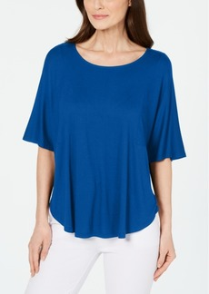 Alfani Scoop-Neck Batwing-Sleeve Top, Created for Macy's