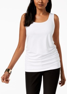 Alfani Scoop Neck Ruched Tank Top, Created for Macy's