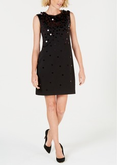 Alfani Sequin Paillete Sleeveless Shift Dress, Created for Macy's