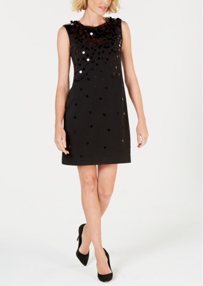eb7375bf32256 Alfani Alfani Petite Scuba Paillette Shift Dress, Created for Macy's ...