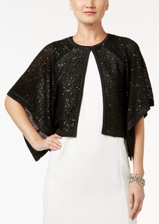 Alfani Sequined Flyaway Cape Cardigan, Only at Macy's